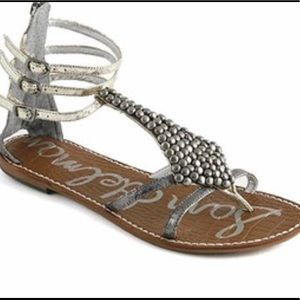 Sam Edelman sandals Gladiator Leather 6 silver